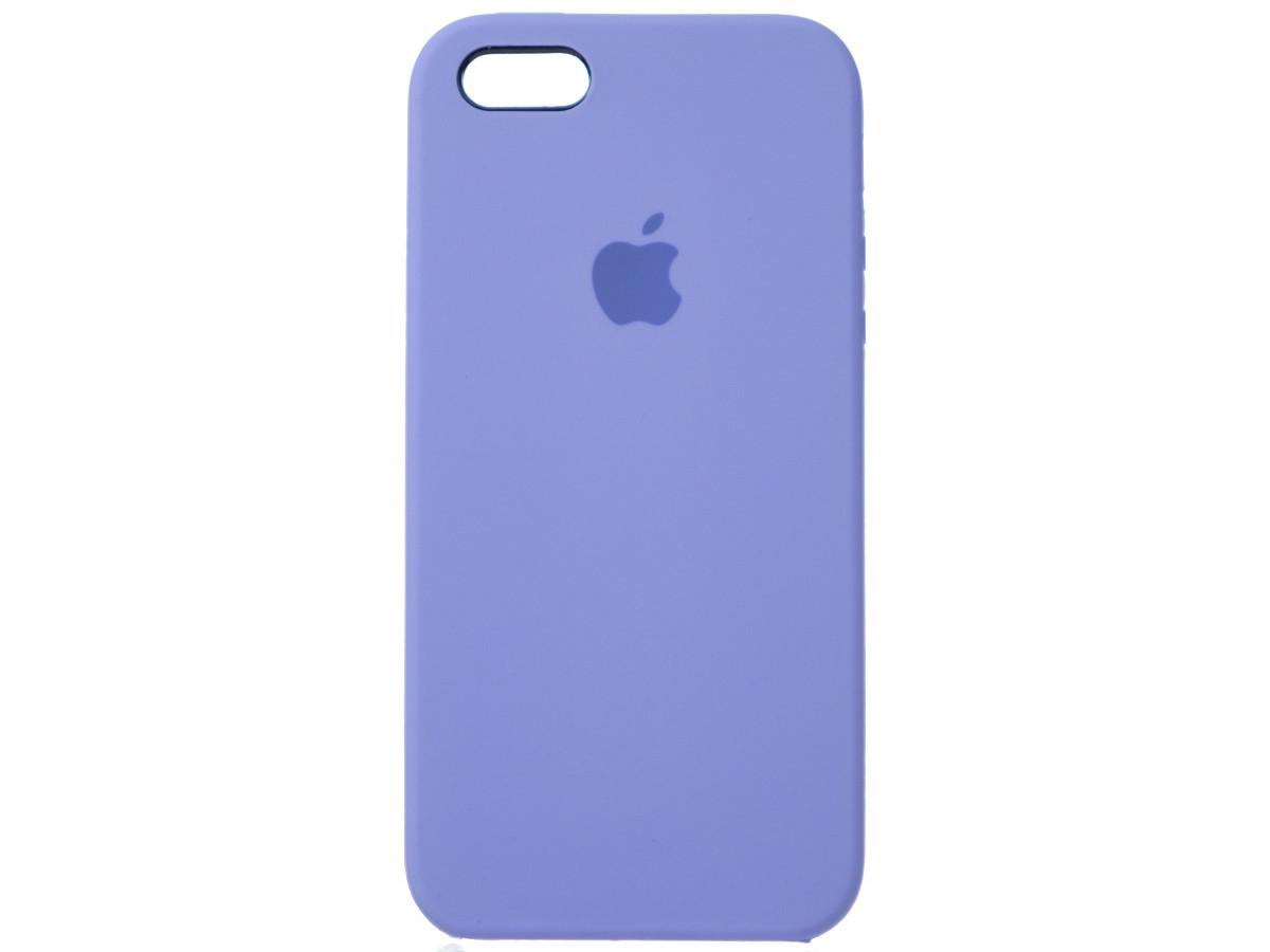 Чехол Silicone Case для iPhone 5/5s/SE лиловый в Тюмени
