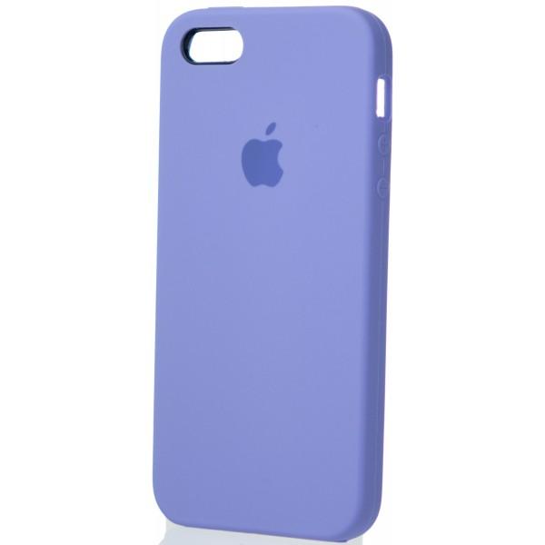 Чехол Silicone Case для iPhone 5/5s/SE лиловый