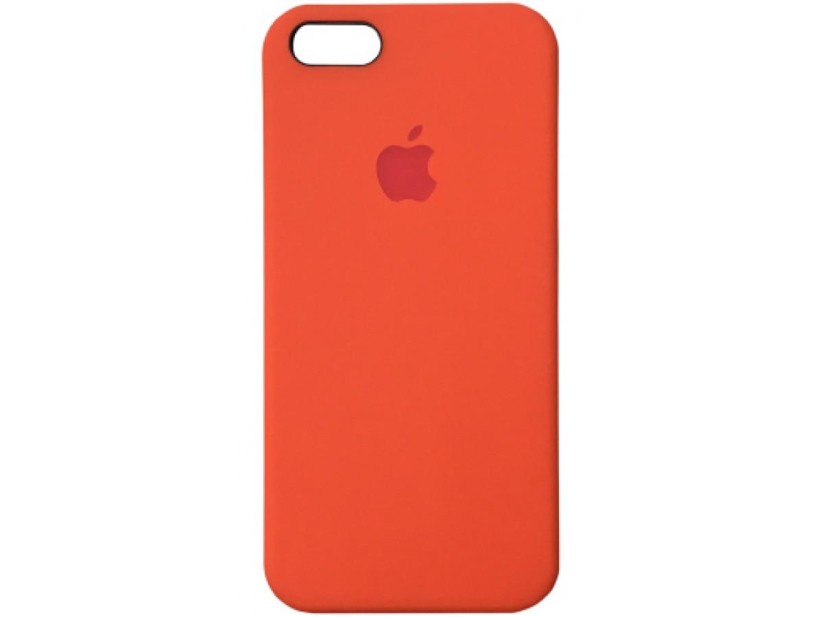 Чехол Silicone Case для iPhone 5/5s/SE оранжевый в Тюмени