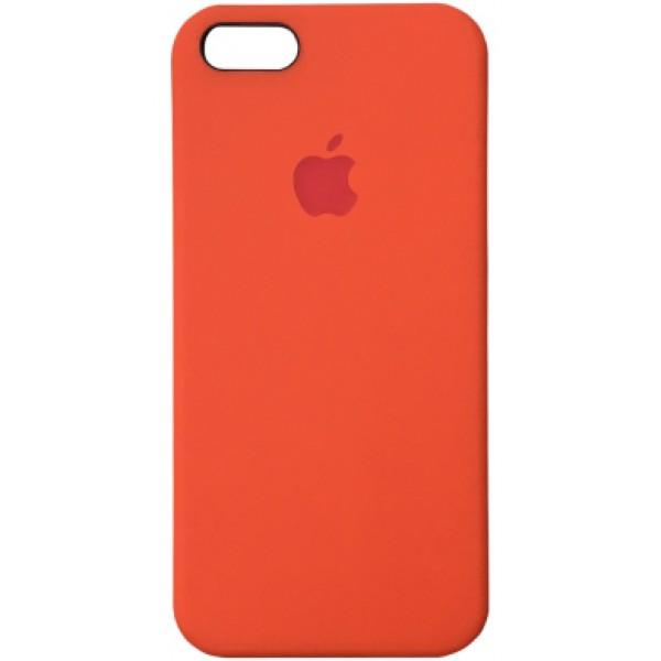 Чехол Silicone Case для iPhone 5/5s/SE оранжевый