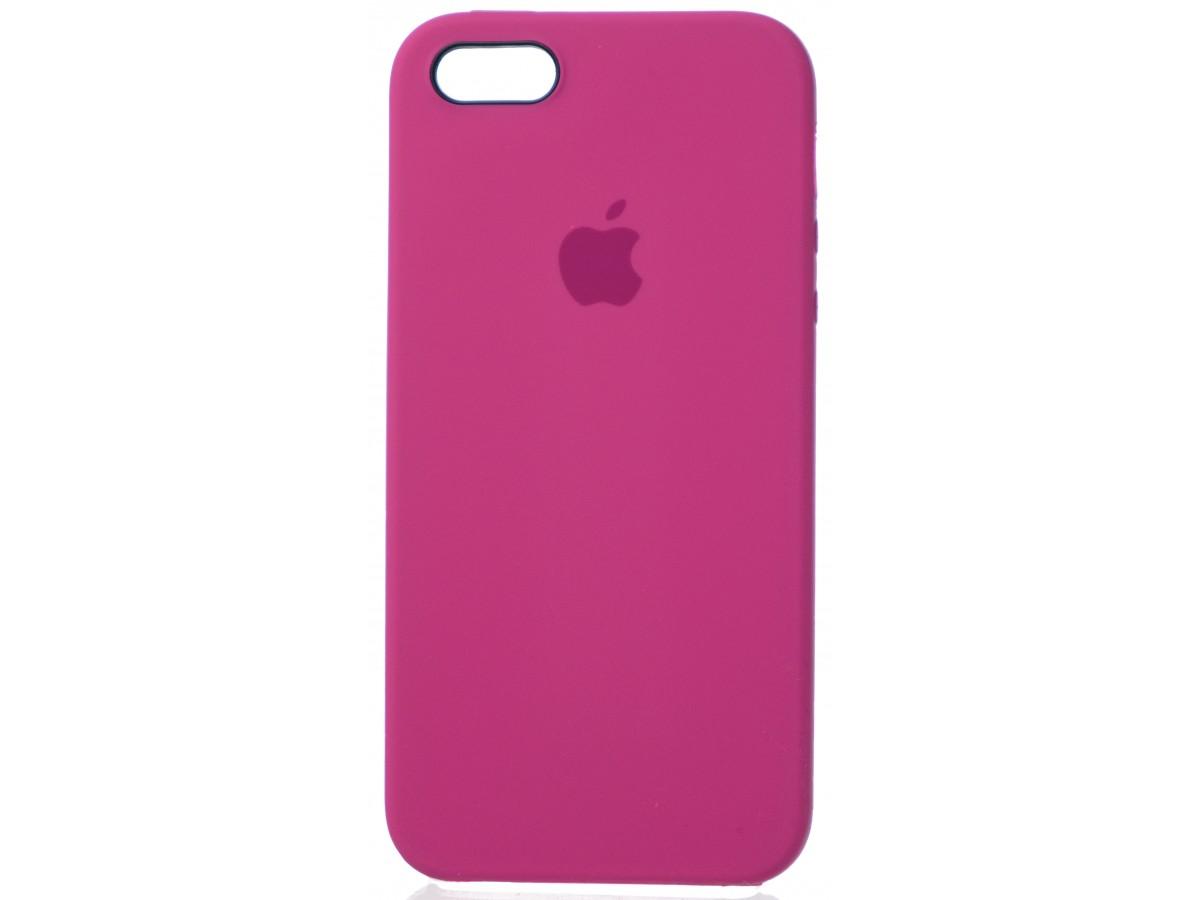 Чехол Silicone Case для iPhone 5/5s/SE темно-розовый в Тюмени