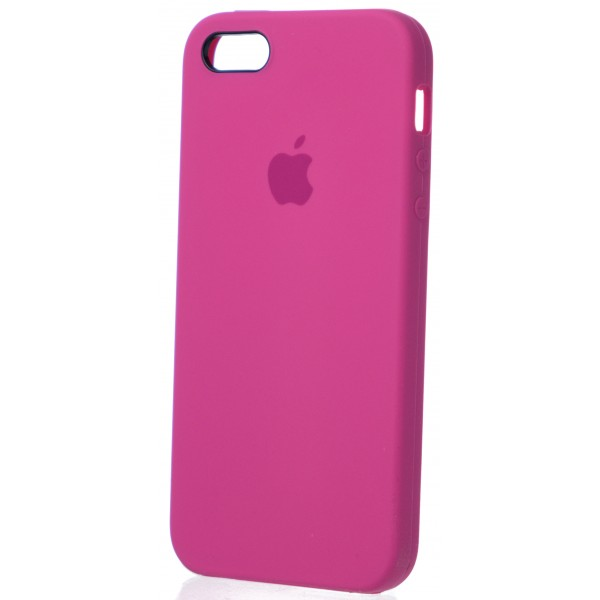 Чехол Silicone Case для iPhone 5/5s/SE темно-розовый