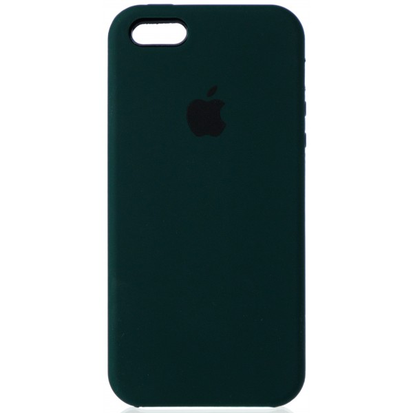 Чехол Silicone Case для iPhone 5/5s/SE темно-зеленый