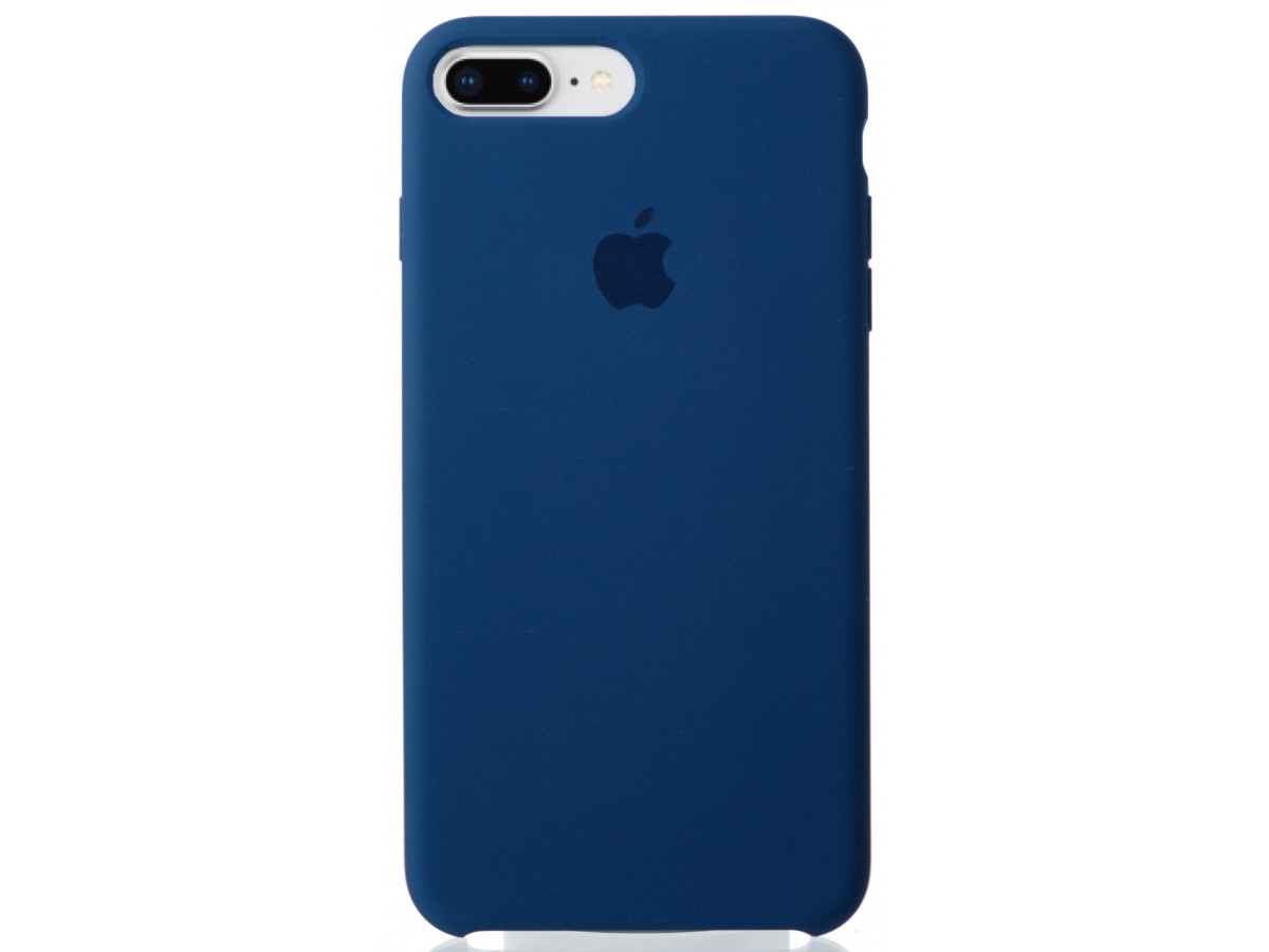 Чехол Silicone Case качество Lux для iPhone 7 Plus/8 Plus синий в Тюмени