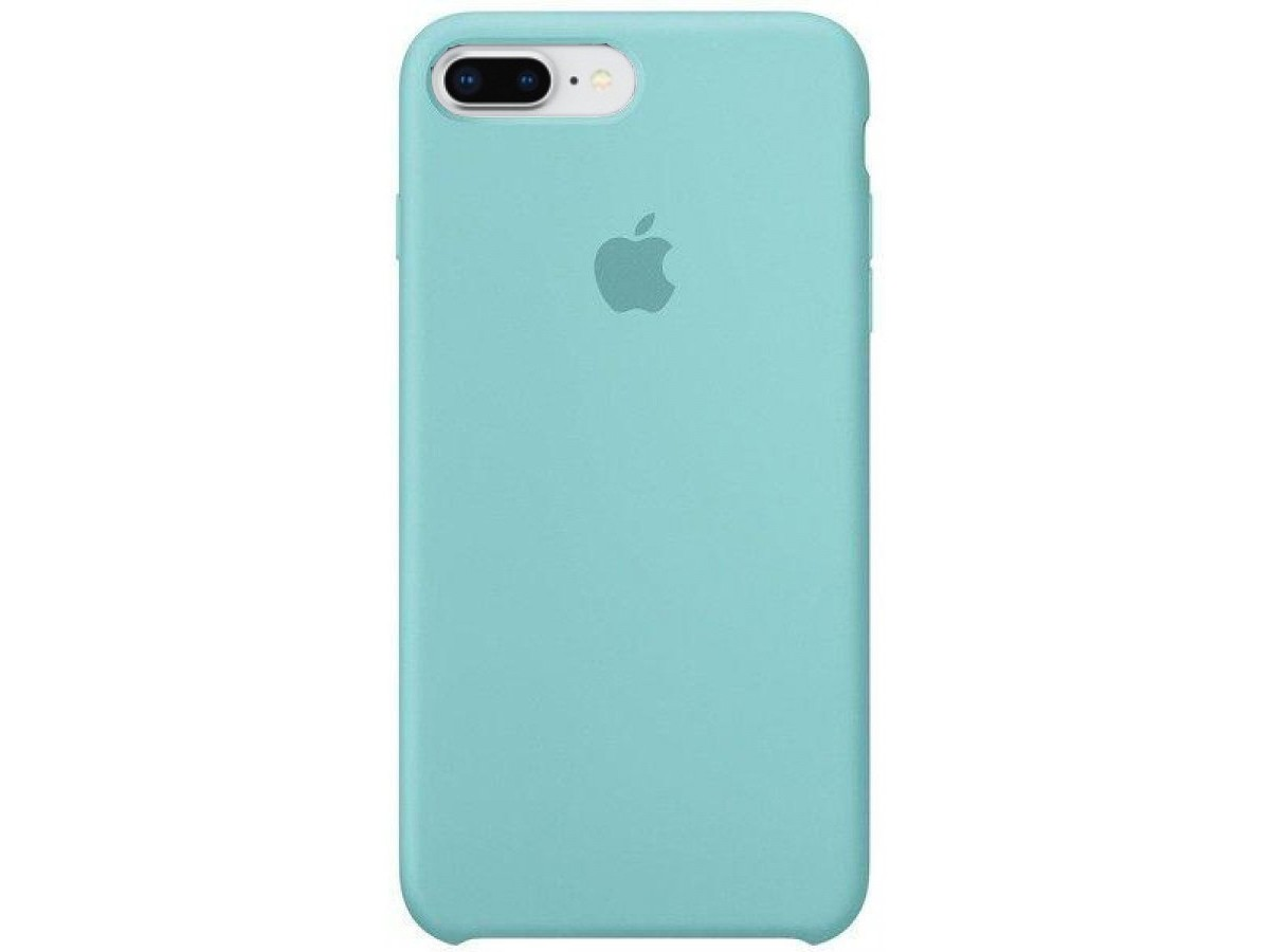 Чехол Silicone Case качество Lux для iPhone 7 Plus/8 Plus бирюзовый в Тюмени