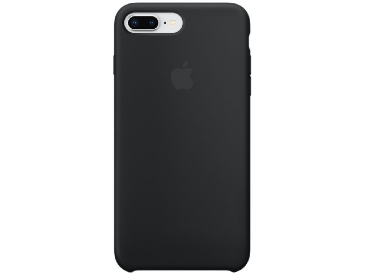 Чехол Silicone Case (С) iPhone 7/8 Plus черный