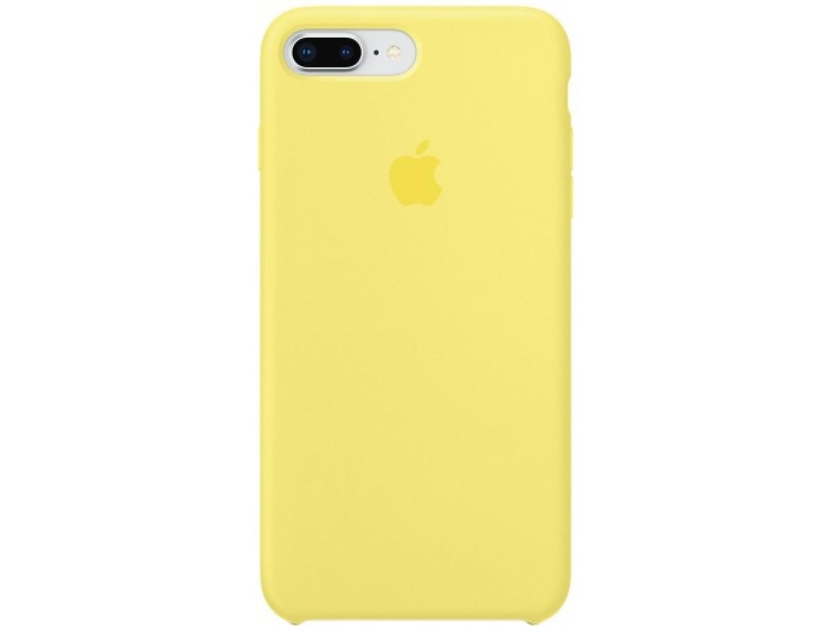Чехол Silicone Case для iPhone 7/8 Plus желтый в Тюмени