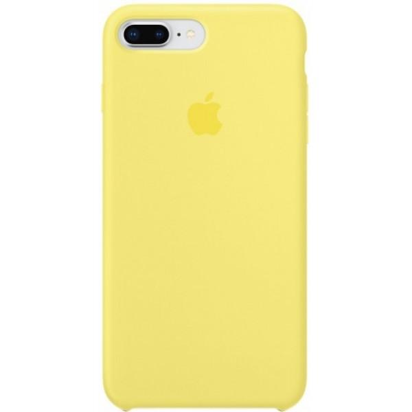 Чехол Silicone Case для iPhone 7/8 Plus желтый