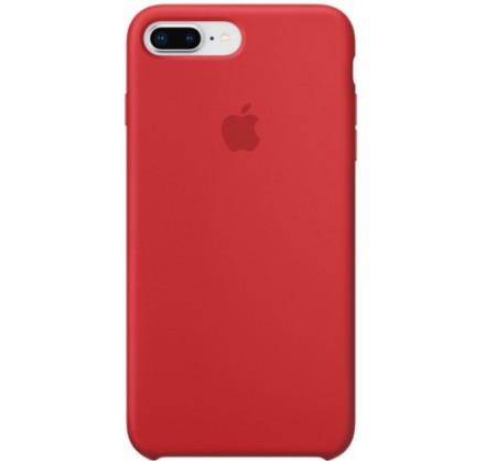 Чехол Silicone Case для iPhone 7/8 Plus красный