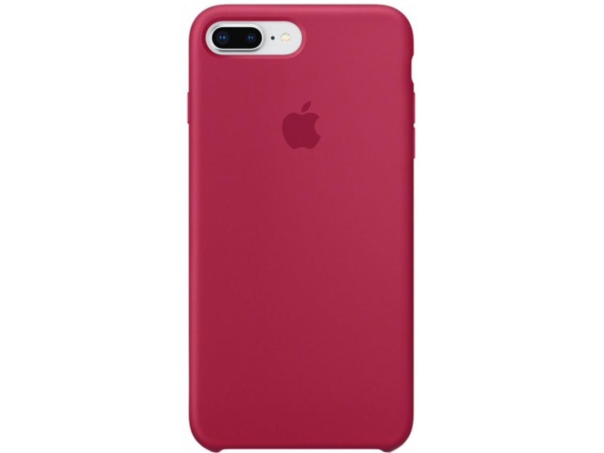 Чехол Silicone Case для iPhone 7/8 Plus малиновый в Тюмени