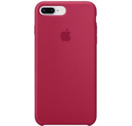 Чехол Silicone Case для iPhone 7/8 Plus малиновый