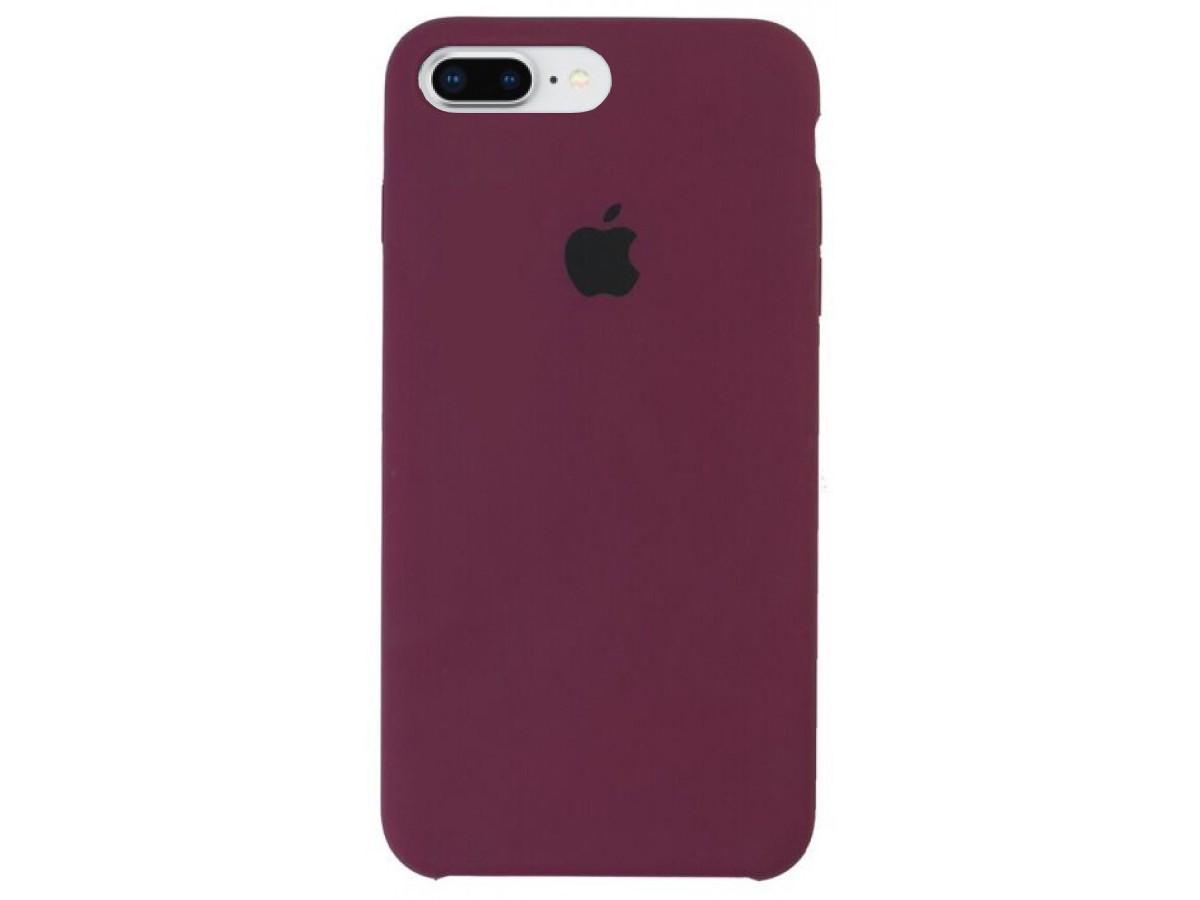Чехол Silicone Case для iPhone 7/8 Plus марсала в Тюмени