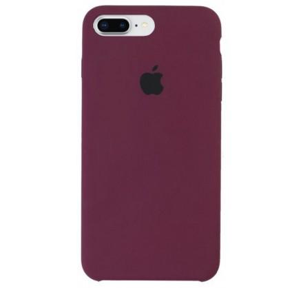 Чехол Silicone Case для iPhone 7/8 Plus марсала