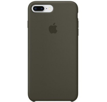 Чехол Silicone Case для iPhone 7/8 Plus оливковый