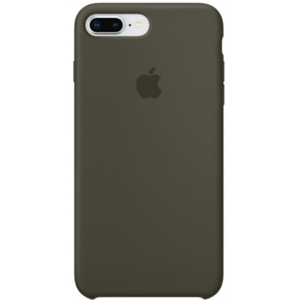 Чехол Silicone Case для iPhone 7/8 Plus оливковый