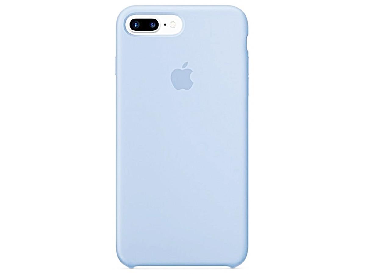 Чехол Silicone Case для iPhone 7/8 Plus светло-голубой в Тюмени
