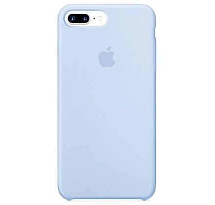 Чехол Silicone Case для iPhone 7/8 Plus светло-голубой