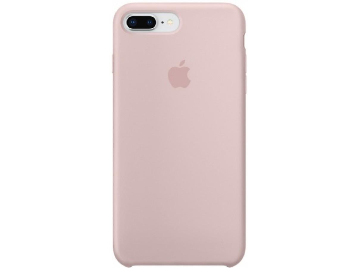 Чехол Silicone Case для iPhone 7/8 Plus светло-розовый в Тюмени