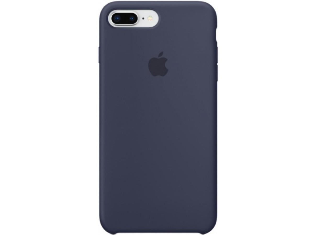 Чехол Silicone Case для iPhone 7/8 Plus темно-синий в Тюмени