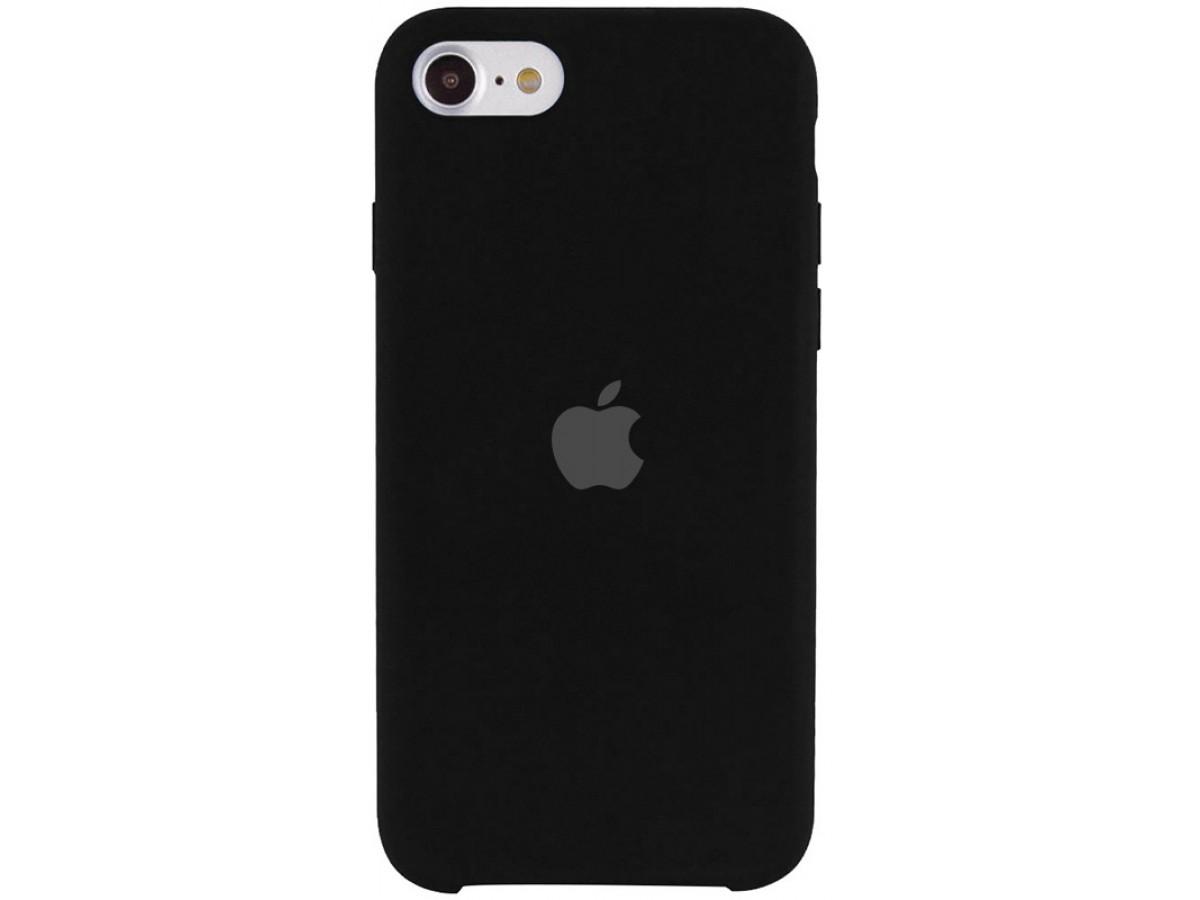 Чехол Silicone Case для iPhone SE 2020 черный в Тюмени