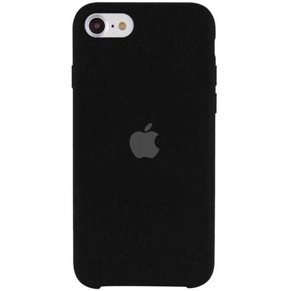 Чехол Silicone Case для iPhone SE 2020 черный