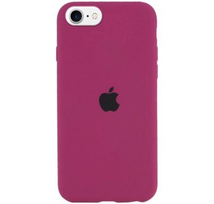 Чехол Silicone Case для iPhone SE 2020 малиновый