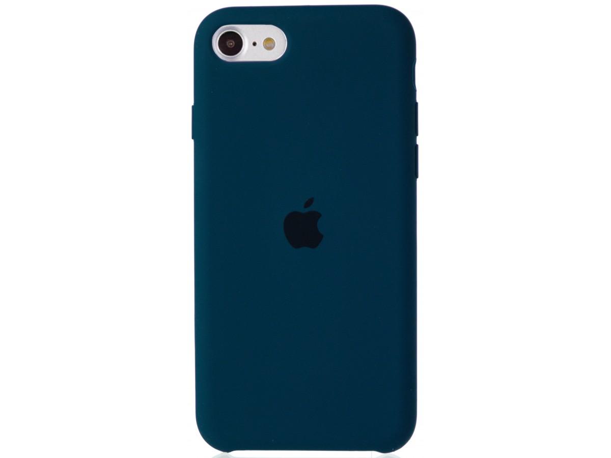 Чехол Silicone Case для iPhone SE 2020 сине-зеленый в Тюмени