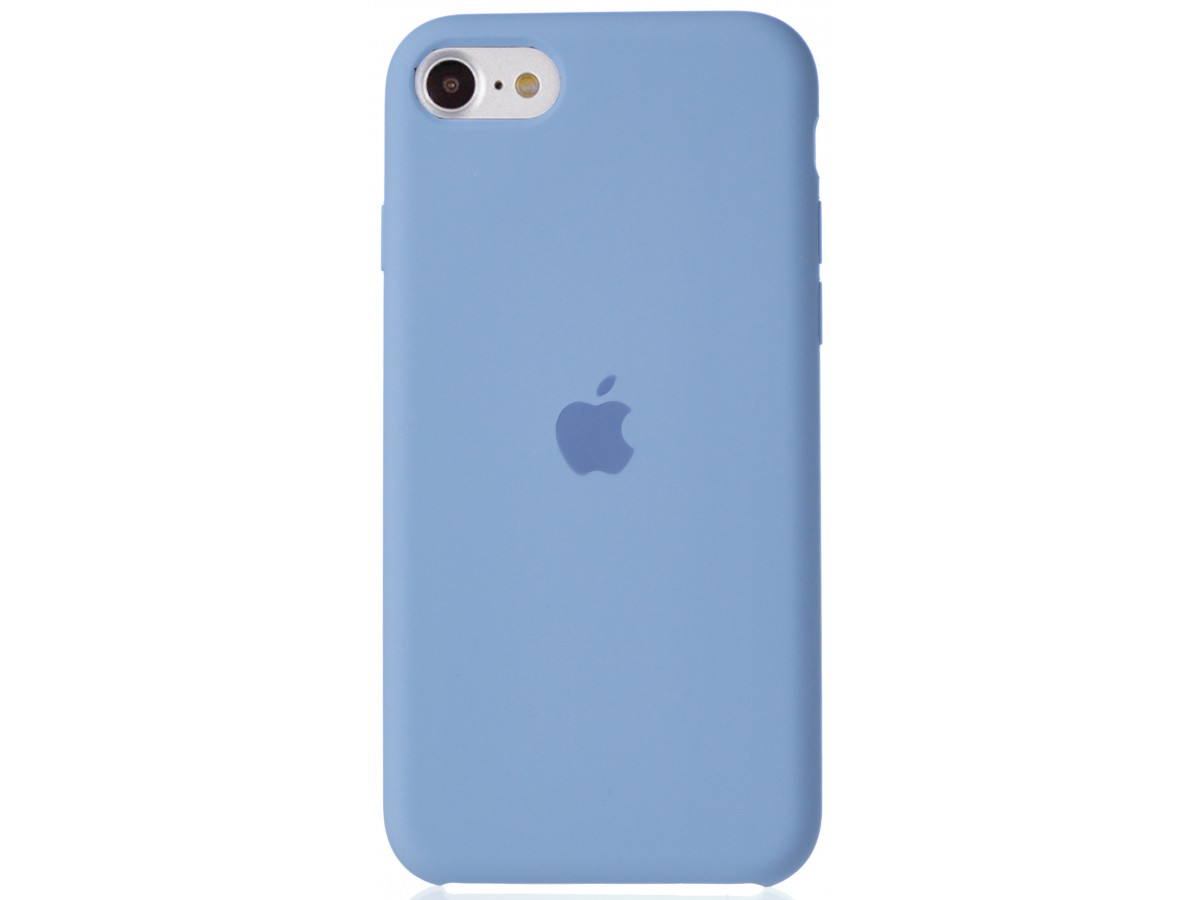 Чехол Silicone Case для iPhone SE 2020 светло-голубой в Тюмени