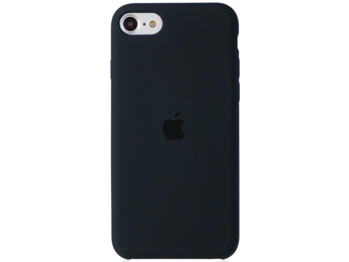 Чехол Silicone Case для iPhone SE 2020 темно-серый в Тюмени