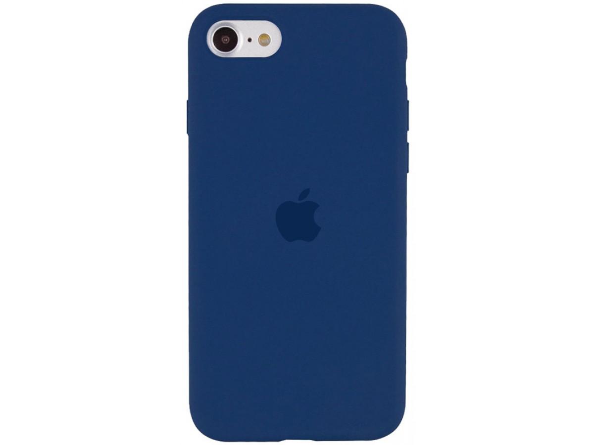 Чехол Silicone Case для iPhone SE 2020 темно-синий в Тюмени