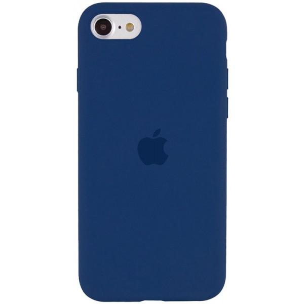 Чехол Silicone Case для iPhone SE 2020 темно-синий