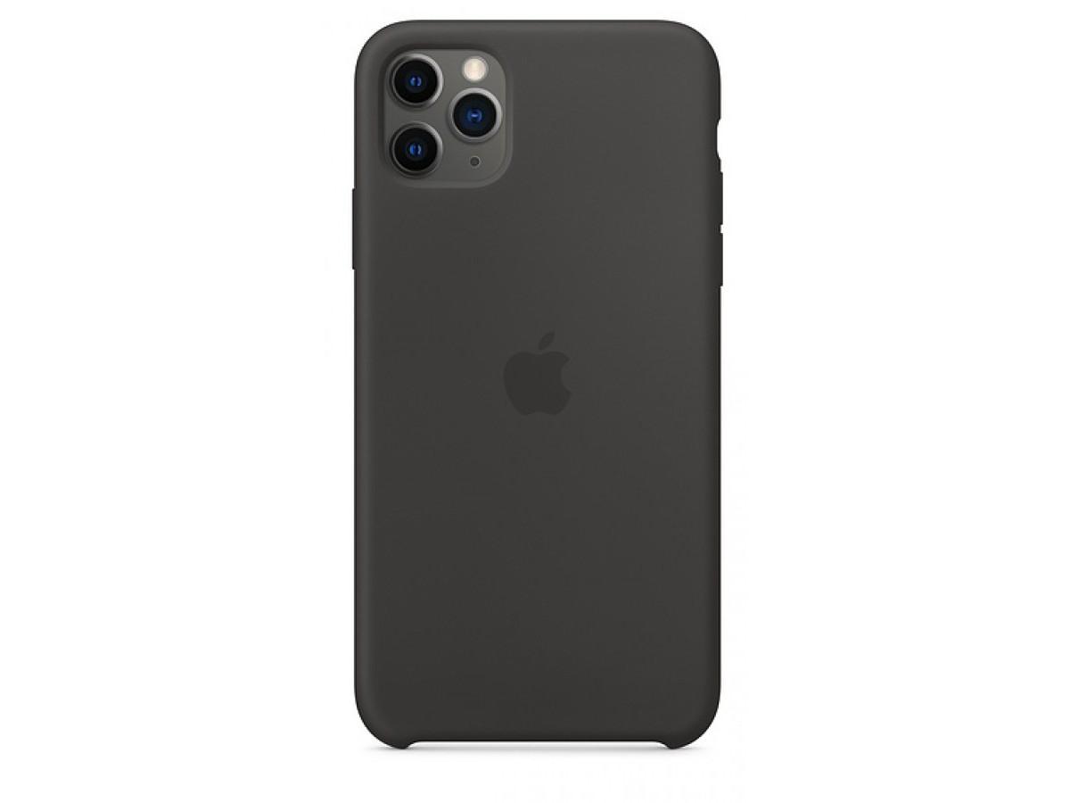 Чехол Silicone Case для iPhone 11 Pro Max черный в Тюмени