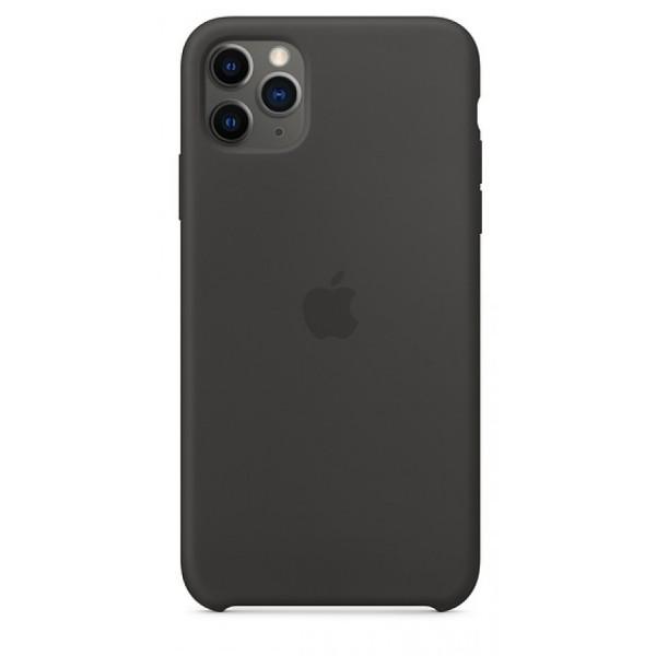 Чехол Silicone Case для iPhone 11 Pro Max черный