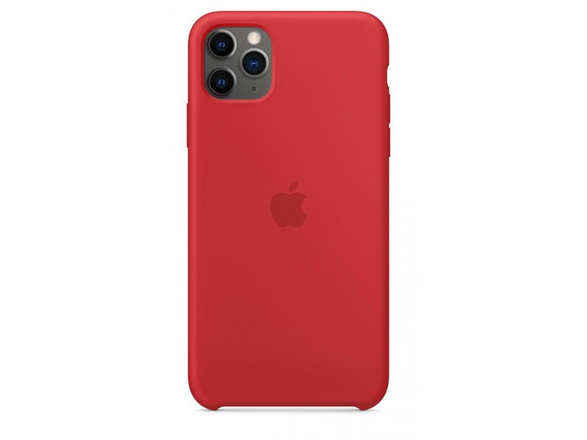 Чехол Silicone Case для iPhone 11 Pro Max красный в Тюмени