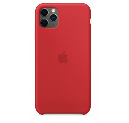 Чехол Silicone Case (С) iPhone 11 Pro красный