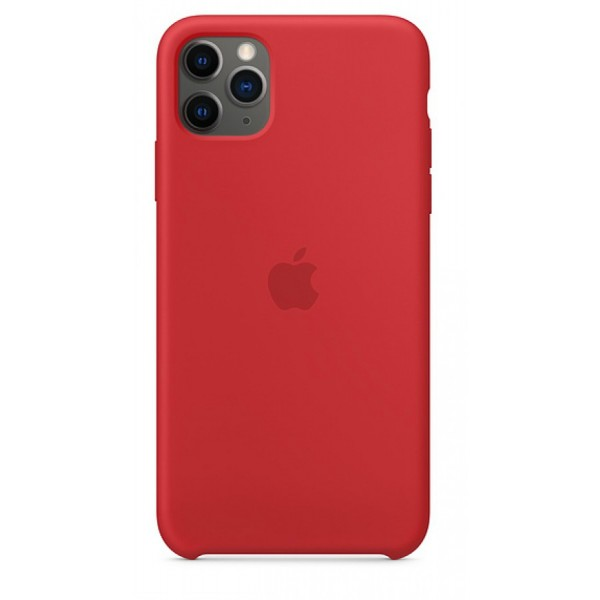Чехол Silicone Case для iPhone 11 Pro Max красный