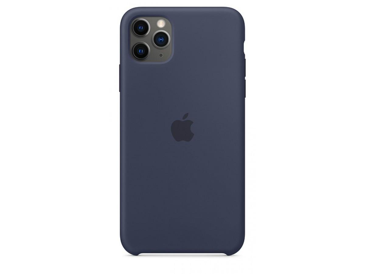 Чехол Silicone Case для iPhone 11 Pro Max темно-синий в Тюмени