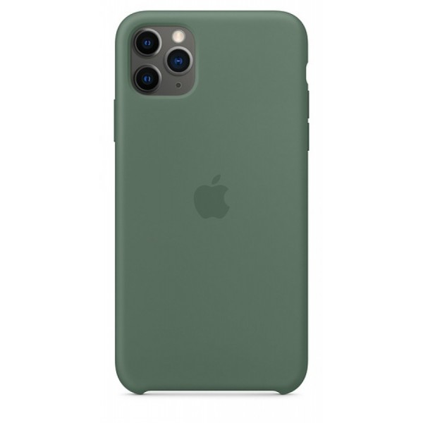 Чехол Silicone Case (С) iPhone 11 Pro темно-зеленый