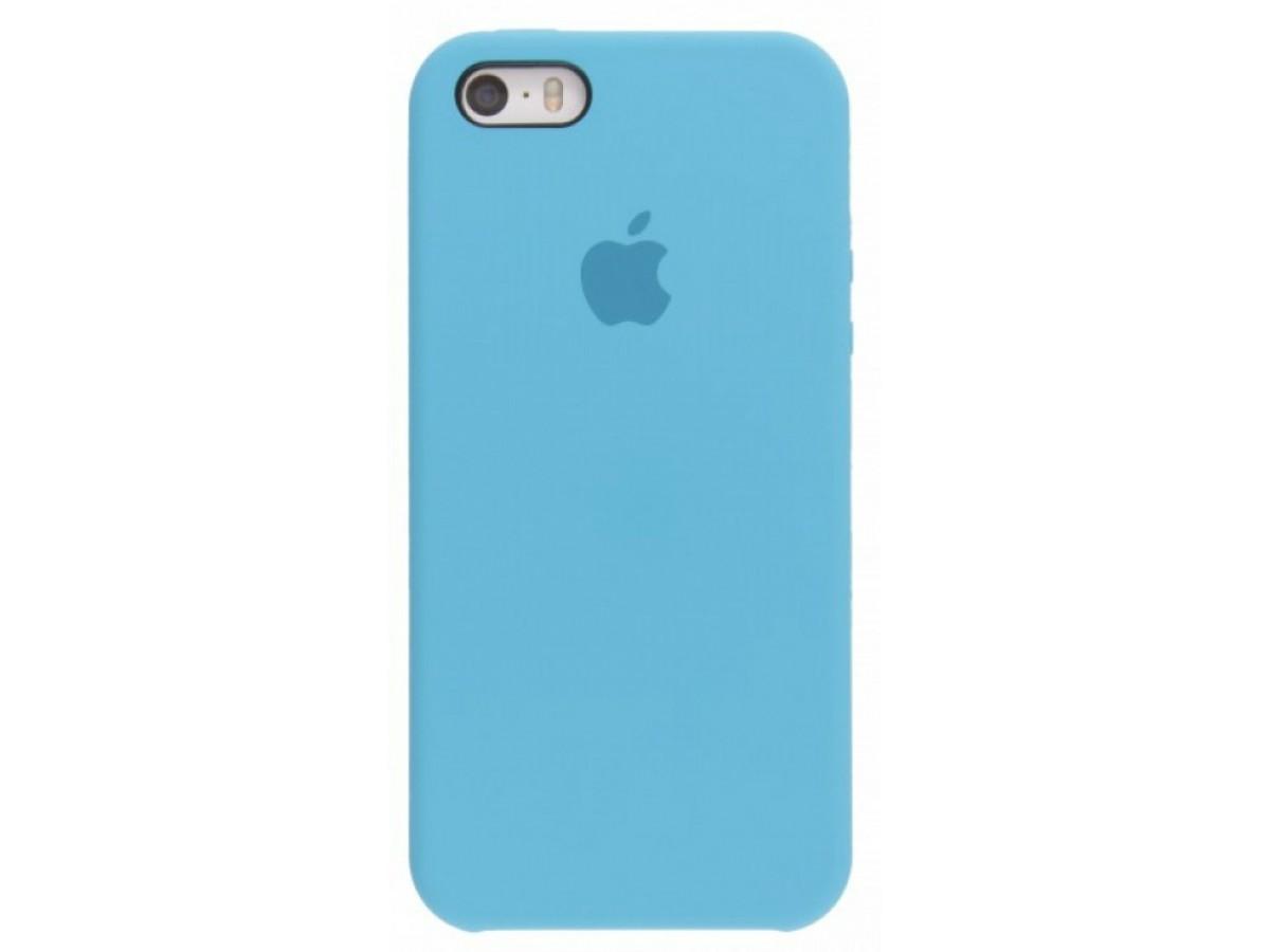 Чехол Silicone Case iPhone 5s/SE голубой в Тюмени