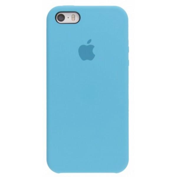 Чехол Silicone Case iPhone 5s/SE голубой