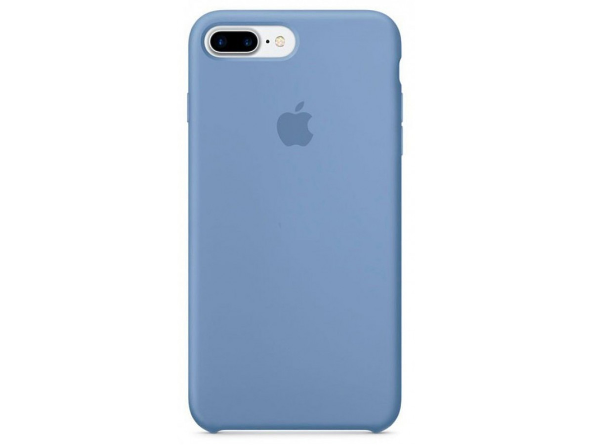 Чехол Silicone Case качество Lux для iPhone 7 Plus/8 Plus голубой в Тюмени