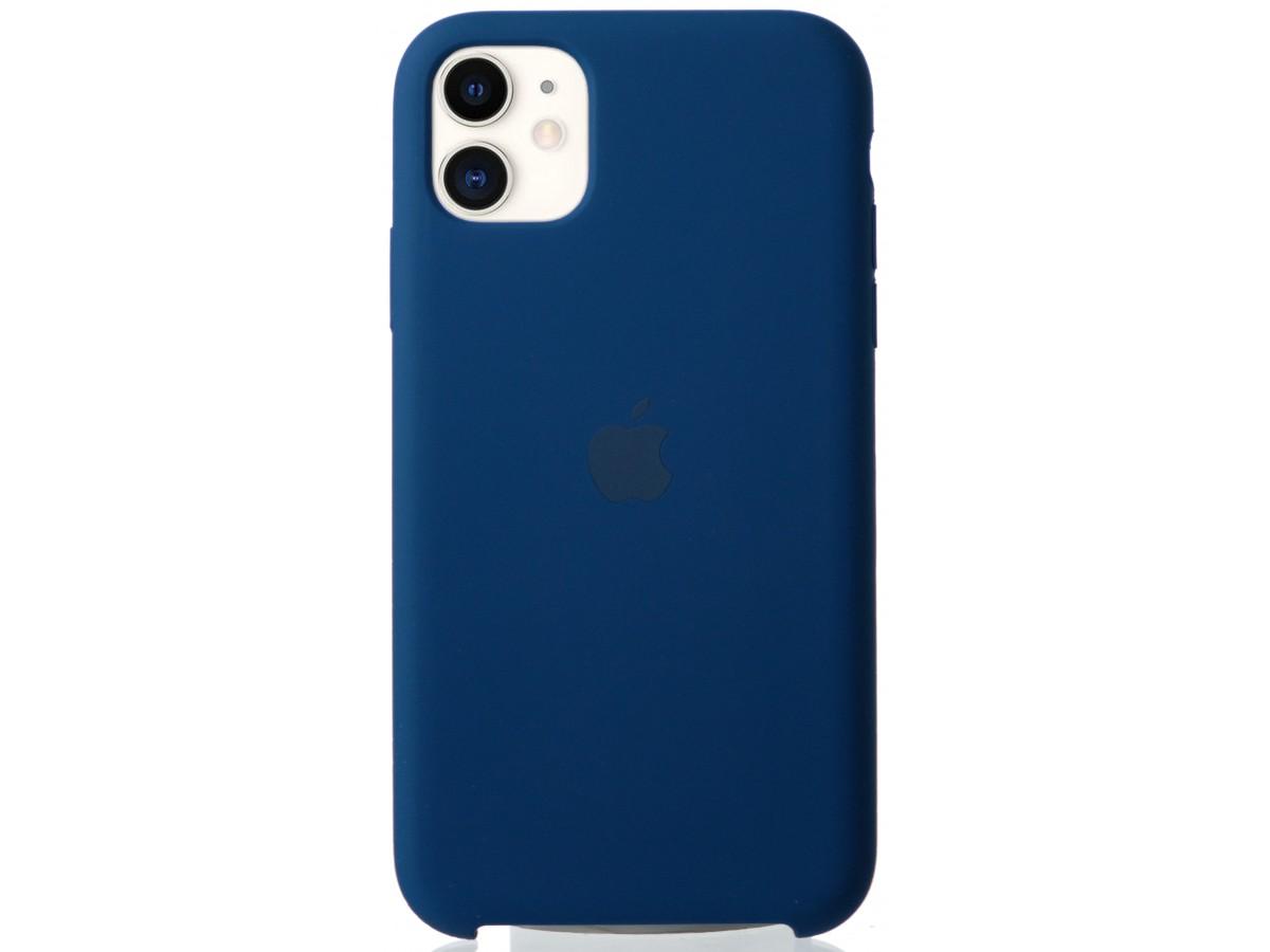 Чехол Silicone Case для iPhone 11 синий в Тюмени