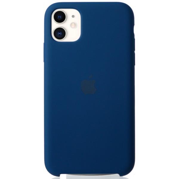 Чехол Silicone Case для iPhone 11 синий