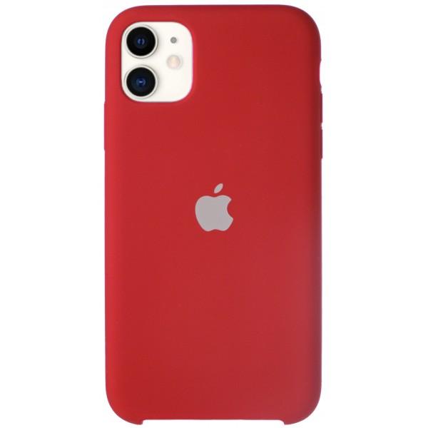 Чехол Silicone Case для iPhone 11 темно-красный