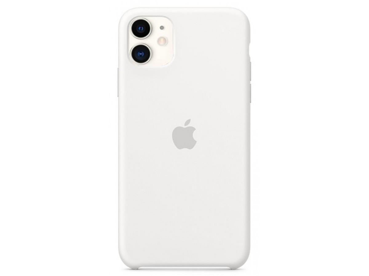 Чехол Silicone Case для iPhone 11 белый в Тюмени