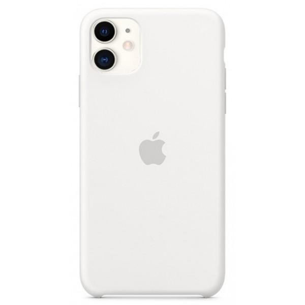Чехол Silicone Case для iPhone 11 белый