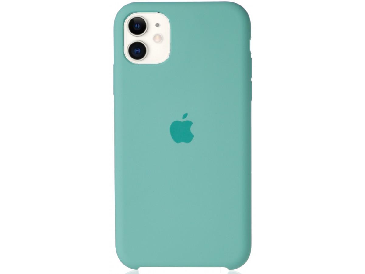 Чехол Silicone Case для iPhone 11 бирюзовый в Тюмени