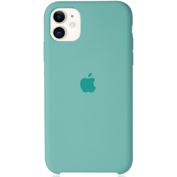 Чехол Silicone Case для iPhone 11 бирюзовый