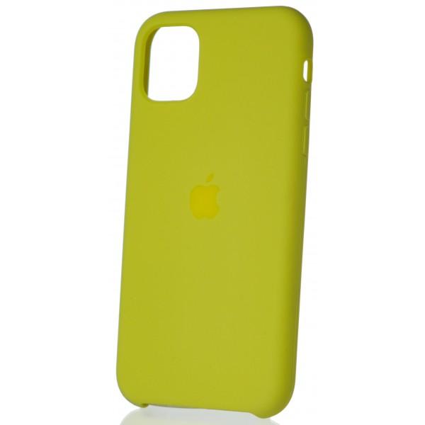 Чехол Silicone Case для iPhone 11 желтый