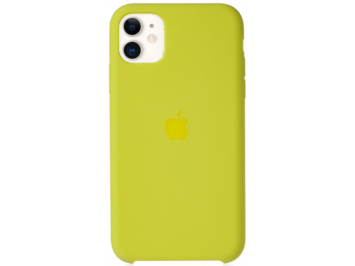 Чехол Silicone Case для iPhone 11 желтый в Тюмени